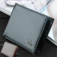 Men's Short PU Leather Money Clip Slim Billfold Wallet RFID Business Card Holder