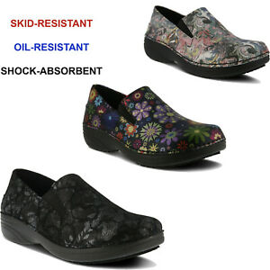 Women Spring Step Selle Slip On Shoes Slip Resistant Health Care Wedge Clogs NEW