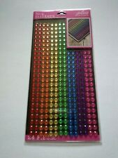 Crafts Stickers Jolee's Bling Small Gems Rainbow Strips Red Yellow Blue Green