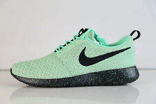 Nike iD Roshe Run Flyknit Green Mint Black 718293-991 sz 10 fly knit free