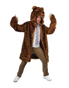 Bear Coat Costume Blake Anderson Workaholics Grizzly Brown Adult TV Show Gift