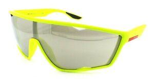 Prada Sport Sunglasses PS 09US 446-1C0 40-xx-130 Flo Yellow / Light Brown Mirror