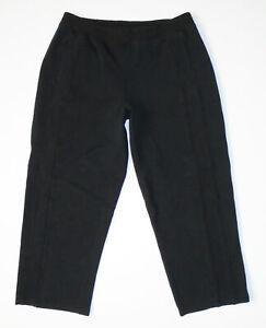 LULULEMON Capri Jogger Sweat Pants SOLID BLACK Crop Yoga Dance Sz 6