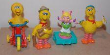 Sesame Street & Muppets Lot of 4 Figures Big Bird Kermit The Frog & Miss Piggy