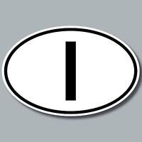 10 aufkleber sticker auto pkw kfz kennzeichen l nderkennzeichen italien italy i ebay. Black Bedroom Furniture Sets. Home Design Ideas