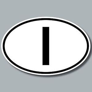 I Aufkleber Auto Sticker ITA ITAL Italien Länderkennzeichen 4061963019825