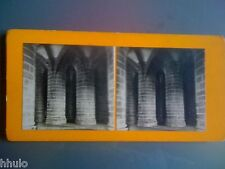 STC100 Mont St Michel les gros piliers stereoview photo STEREO