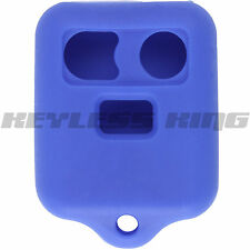 New BLUE Keyless Remote Key Fob Case Skin Jacket Cover Protector Three Button