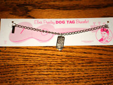 ELVIS PRESLEY ORIGINAL SILVER DOG TAG BRACELET ON CARD    ELVIS JEWELRY!