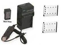 2 Batteries + Charger for Fuji FujiFilm T200 T205 T300 T305 XP10 XP11 XP20 XP22