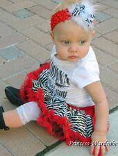 Newborn Red Zebra Baby Pettiskirt Pageant Tutu N11