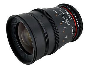 Rokinon 35mm T1.5 Cine Wide Angle Lens  w/ De-clicked Aperture For Nikon