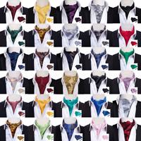 Silk Ascot Mens Silk Ascot Neck Tie Solid Paisley Cravat Scraf Wedding Woven