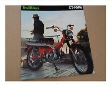 1975 Honda CT90 K6 TRAIL BIKE Motorcycle Sales Brochure - Literature