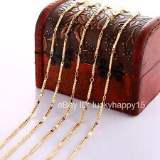 "Bulk Wholesale New 5pc 2mm Gold Filled Fashion Women Men's Chains Necklace 18"""