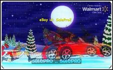 WALMART SANTA CHASING RED SPORT BMW CAR 3D LENTICULAR RARE COLLECTIBLE GIFT CARD