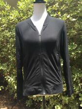Athleta Women's Small Black Track Athletic Running Jacket Zip Up Front Pockets