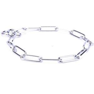 Large Dog Chain Collar Dog Choker Chain Metal Dog Collar For Large Dog 4 mm Wire