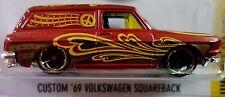Hot Wheels 2016 HW Art Cars Custom '69 Volkswagen Squareback Red 1969 VW 1:64