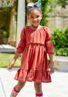 Girls Matilda Jane Moments with you Happy Holly Daze Dress size 10 NWT