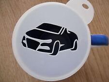 Laser cut sports car coffee and craft stencil