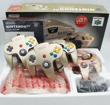 Nintendo 64 Console Set Toys R Us Limited Edition Gold with Box and Manual Japan
