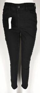 """WOMEN'S NEW LOOK LIFT & SHAPE JEANS BLACK SIZE UK 12 32"""" LEG BNWT"""