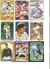 18 CARD CALVIN SCHIRALDI BASEBALL CARD LOT           33