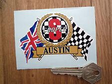 AUSTIN Mini Cooper S Flags & Scroll Style Car STICKER Classic Sport Race Rally