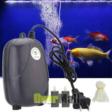 300 Gallon Adjustable Silent Air Pump Large Aquarium Fish Tank 2 outlet