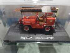 Jeep Willys CJ2A Feuerwehr Argentina 1946 pompiers 1/43 Salvat altaya diecast