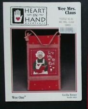WEE MRS CLAUS Mini Christmas Counted Cross Stitch Kit HEART IN HAND