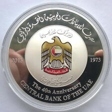 UAE 2013 40th Anniversary of Central Bank 100 Dirhams 2oz Silver Coin,Proof