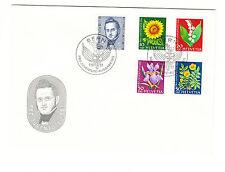 Schweiz  FDC Ersttagsbrief 1961 Gartenblumen Mi.Nr.742-46
