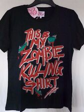 *Cotton Crush This is My Zombie Killing T-Shirt Womens Black Casual Shirt-Size14