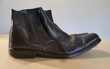 mens black leather dress shoe boots size 12