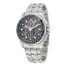 Citizen Eco-Drive Skyhawk Men's JY8050-51E AT Silver-Tone Bracelet 47mm Watch