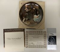 1984 Norman Rockwell THE STORYTELLER Knowles Collector Plate  V3074 LE W/ COA