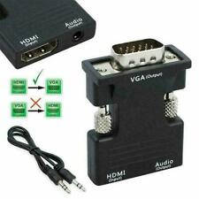 1080P HDMI Female to VGA Male with Audio Output Cable black// Adapter Conve I8R9