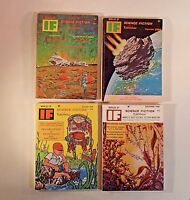 Worlds Of IF Science Fiction Magazine 1968 Lot Of 4  (AUG, SEP, NOV, DEC)