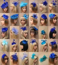 FASCINATOR ROYAL BLUE COBALT, TURQUOISE, WEDDING RACES PROM ASCOT, OCCASION LOT