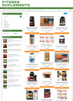 FITNESS SUPPLEMENTS UK WEBSITE WITH 1 YEARS HOSTING + DOMAIN - FULLY STOCKED