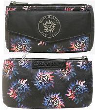 CW Supernatural Galaxy Anti-Possession Symbols Ladies Flap & Zipper Wallet NWT