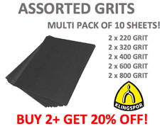 WET AND DRY SANDPAPER 220 320 400 600 800 ASSORTED GRIT 2 OF EACH SHEET 10 PACK