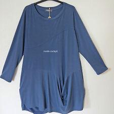 KEKOO %%% Ballon Kleid Tunika Lagenlook Viskose blau 46-48 (2)