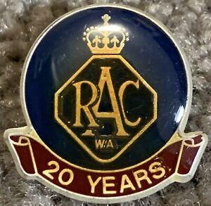 RAC (Royal Automobile Club) WA 20year Member Pin