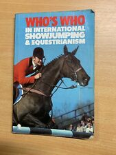 """1983 """"WHO'S WHO IN INTERNATIONAL SHOWJUMPING & EQUESTRIAN"""" PAPERBACK BOOK (P2)"""