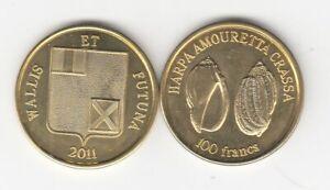 Wallis und futuna  100 Francs  Muscheln  2011