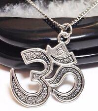 "OHM_Pendant + 20"" Chain Link Necklace_Om Aum Buddhist Yoga Reiki Chakra Zen_197N"