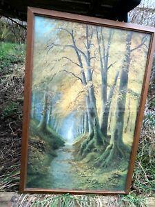 vintage Wood Framed Picture by D Sherrig